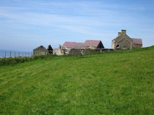 Ffos Las farm ruins