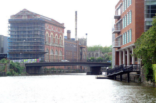 St Philip's Bridge and former Courage brewery