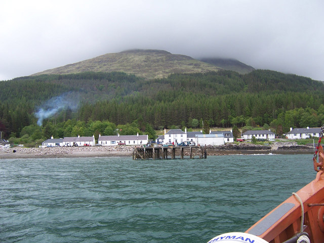 Inverie from seaward.