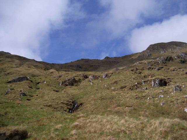 In the upper reaches of Coire na Cloiche