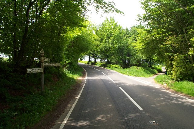 Road junction on the B3224