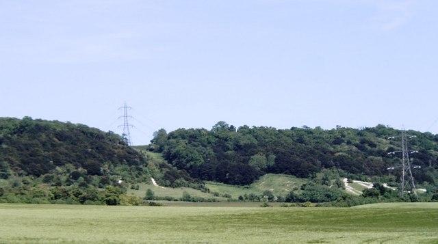 North Downs escarpment near Boxley