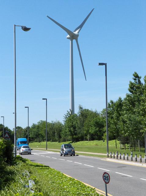 The wind turbine, Green Park, Reading