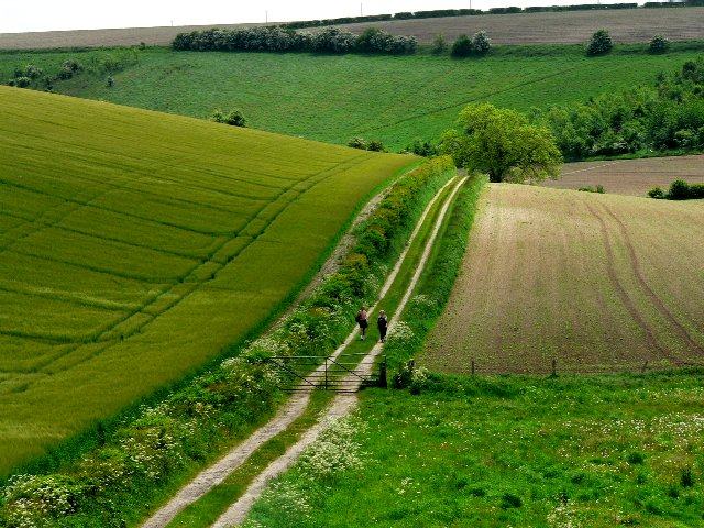 Walkers on The Wolds Way
