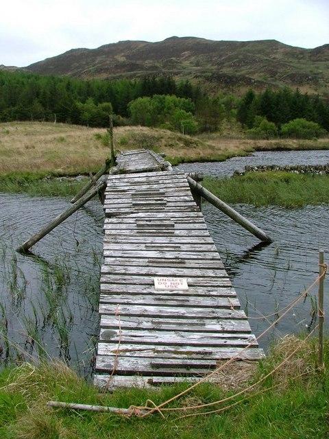 Footbridge, Loch Carnain an Amais