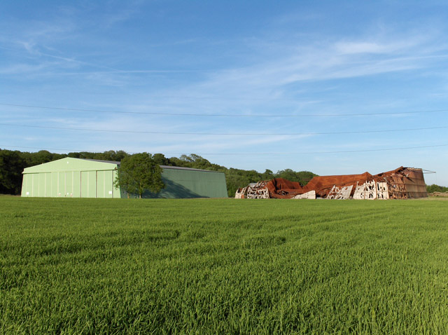 Hangars, old and new, near Culham