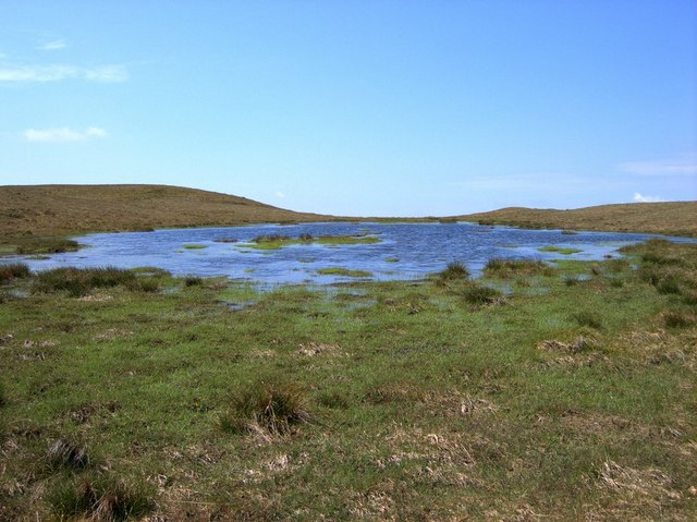 Boggy pool on the plateau between the Plynlimon tops