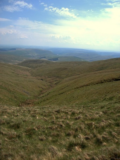 The valley head of the Wye / Gwy on Plynlimon