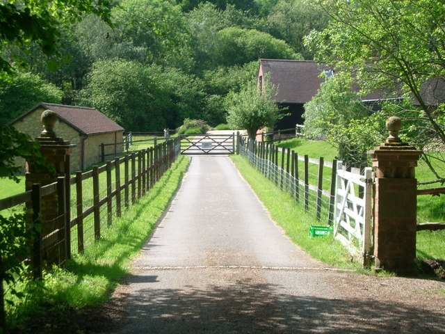 The entrance to Winterfold Farm