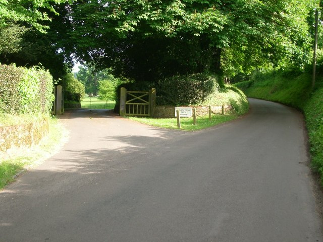 The entrance to Thorncombe Park