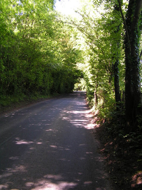 Road along the county border