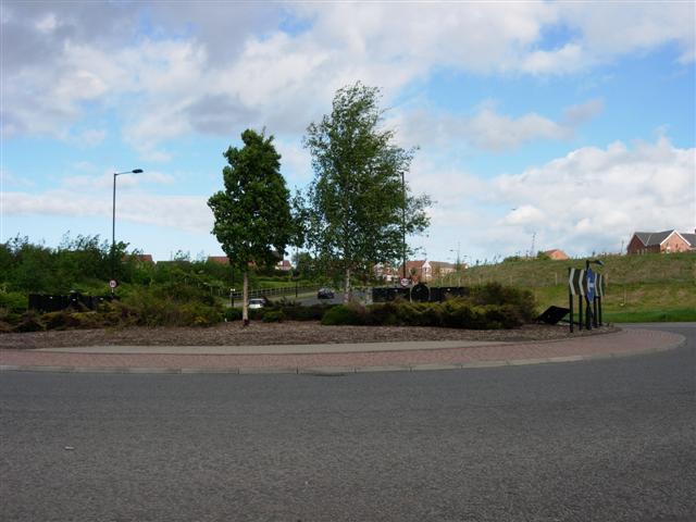 Roundabout on new road