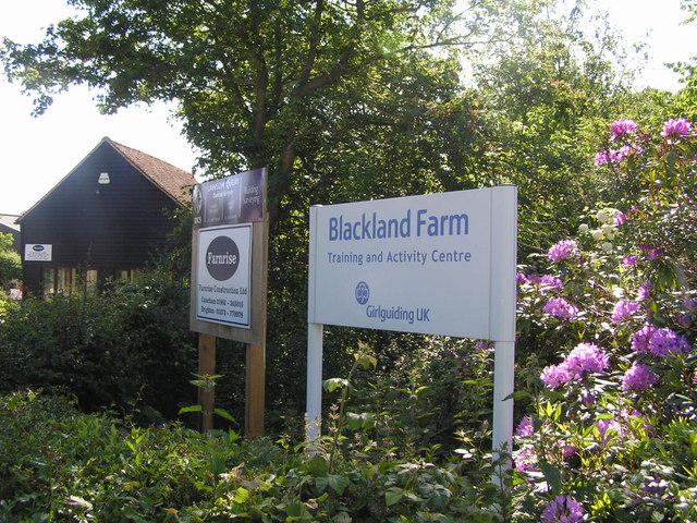 Entrance to Blacklands Farm