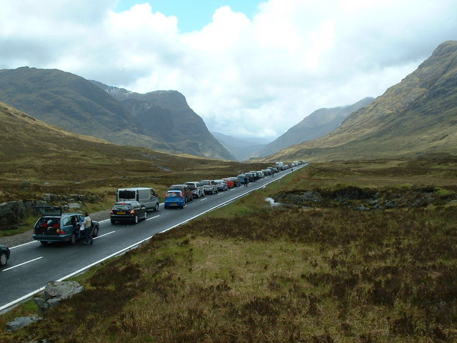 Traffic Jam on the A82