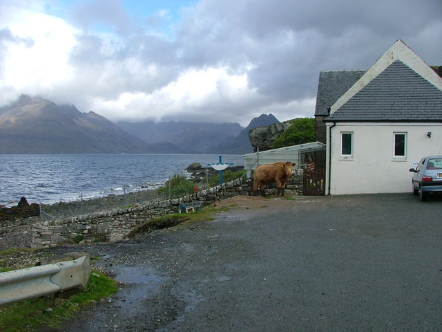 Elgol Primary School and Loch Scavaig