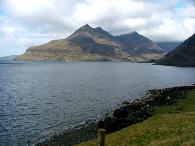 Looking across Loch Scavaig