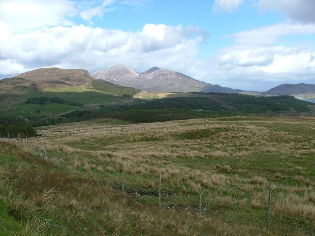 towards Beinn na Caillich
