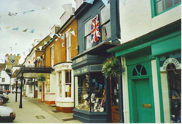 Shop Fronts, Broad Street, New Alresford.
