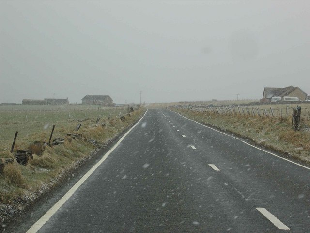 The A967 road South of Millfield