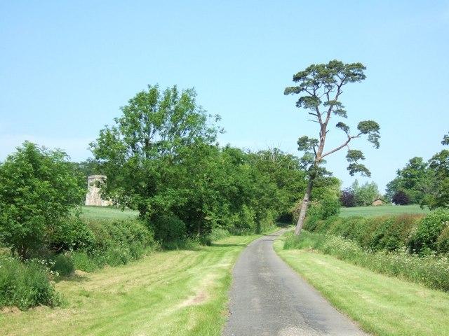 Approaching Battlesden Church