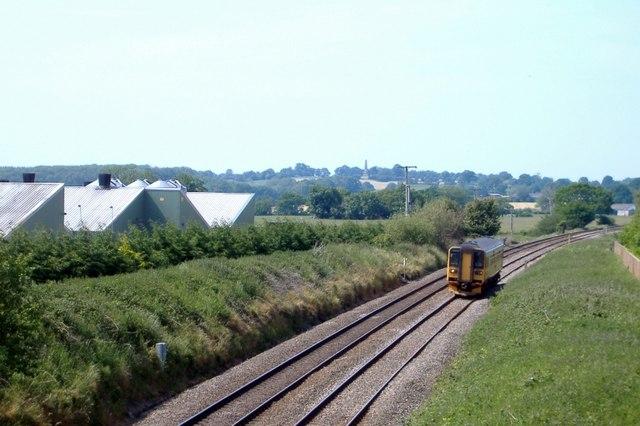 Nantwich-Whitchurch railway, near Wrenbury