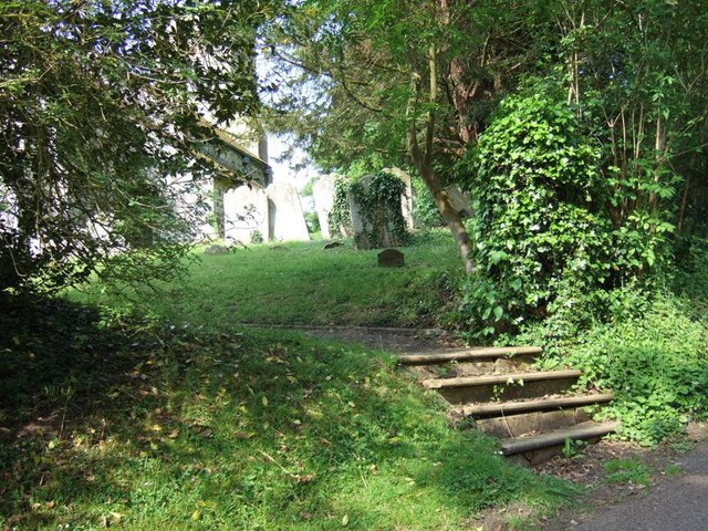 Steps & churchyard