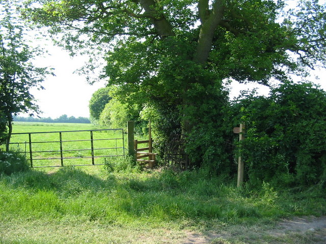 Newly constructed stile near Ings Hill