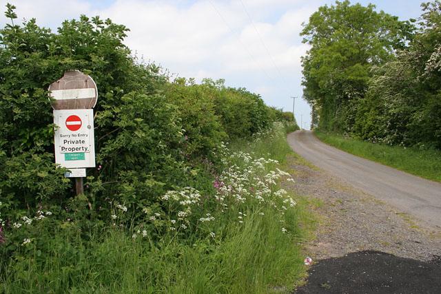 Lane to Acthorpe Top
