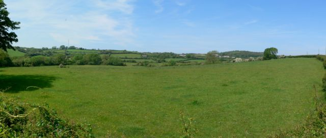 Looking Towards Bryn Ddol from Bryn Poeth, Llangoed, Anglesey.