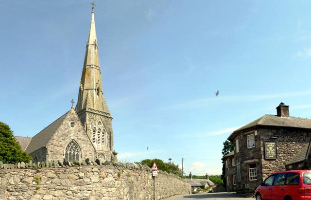 The Church and Harp, Llandwrog, Caernarfon.