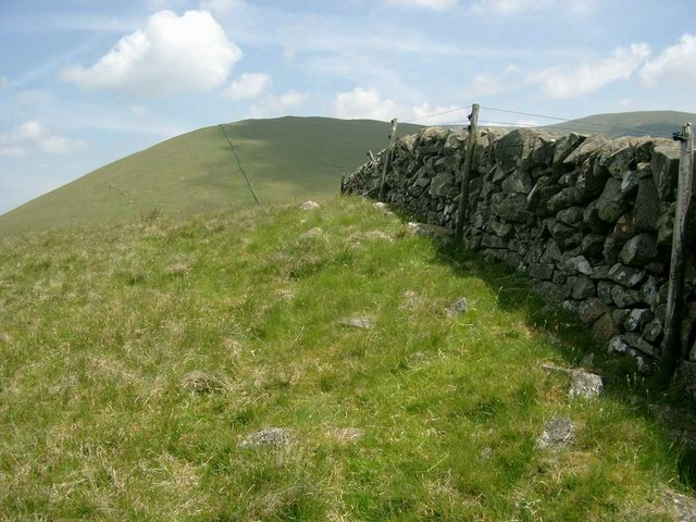 Wall near the summit of Willieanna