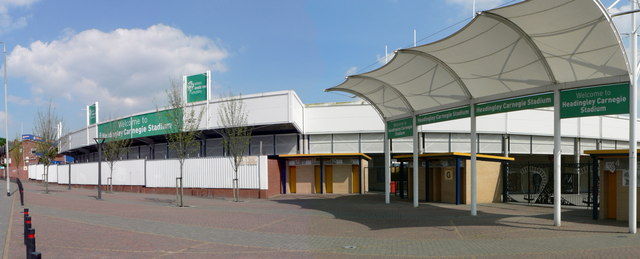 North Stand and entrance, Headingley Carnegie Stadium