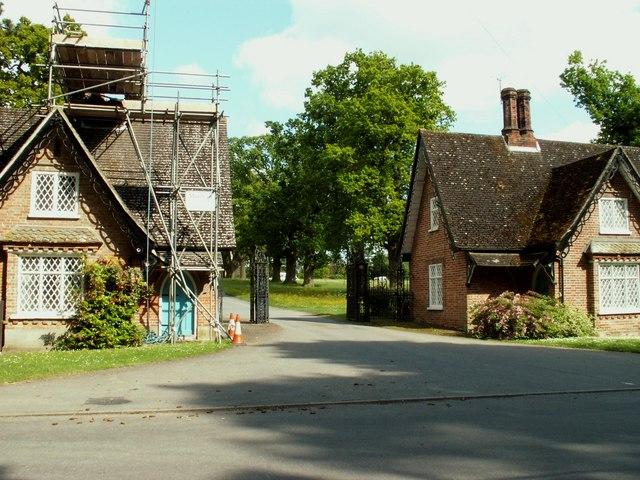 Old Buckenham Hall School entrance, Brettenham, Suffolk