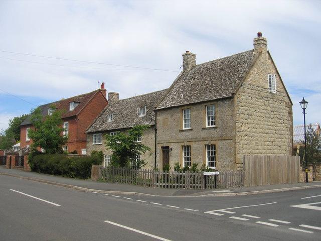 Old stone houses, Ettington