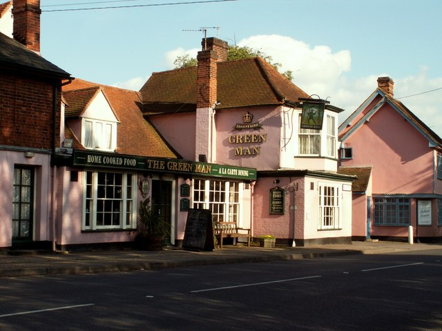 'The Green Man' public house, Gosfield, Essex