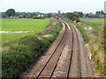 SJ5946 : Railway line near Smeaton Wood Farm by Nigel Williams
