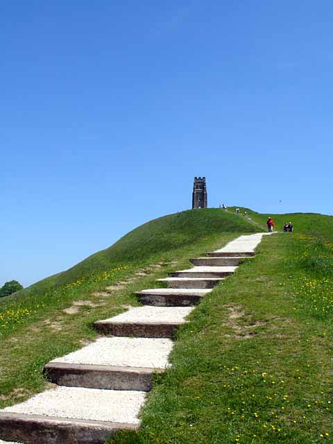 Path up to Glastonbury Tor