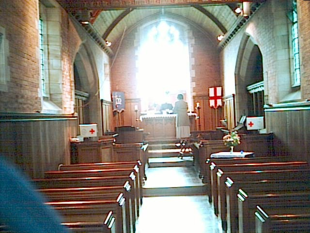 Inside St Mary and St George's Church, Comberford
