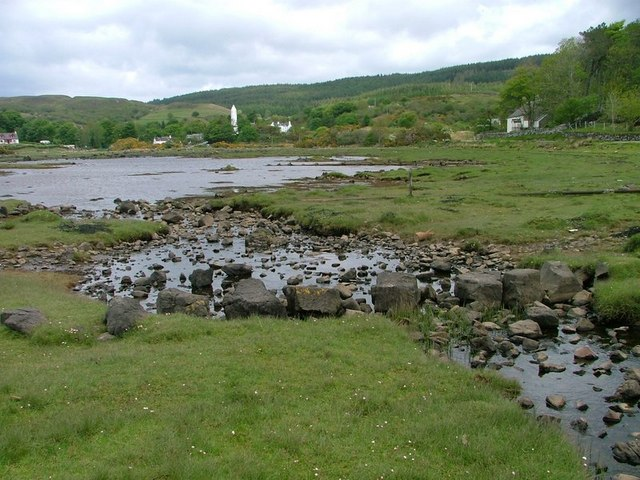 Stepping Stones Across a Tidal Finger of Loch a' Chumhainn
