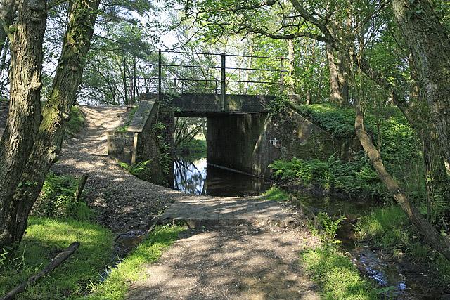 Bridge under disused Brockenhurst to Ringwood railway line