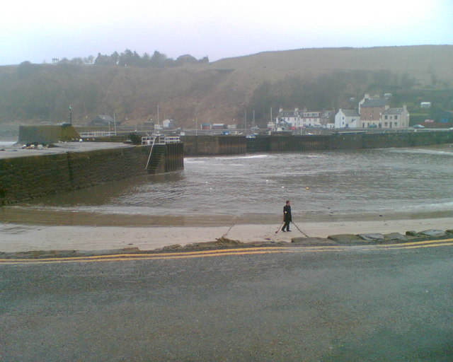 Stonehaven Harbour - stormy weather