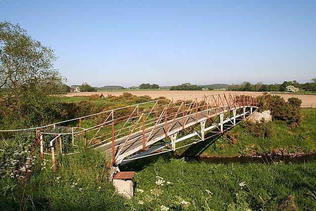 The Kirkhill Footbridge, Morayshire.