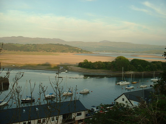 Looking towards Ballast Island and Portmeirion peninsula