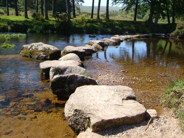 Stepping stones across West Dart