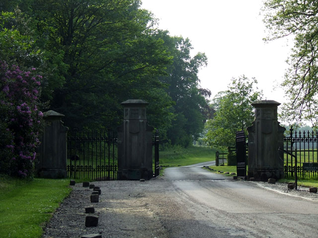 Entrance gates to Combermere Abbey