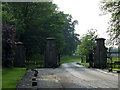 SJ5943 : Entrance gates to Combermere Abbey by Nigel Williams