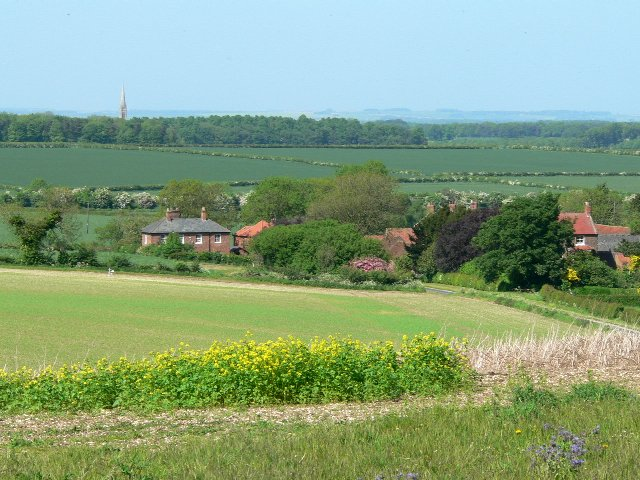 Looking Down the Hill to Gardham
