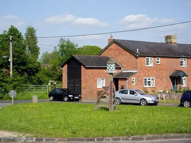Village sign, The Pound, Broughton