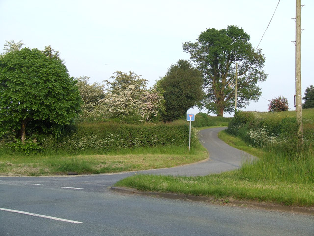 Junction leading to Newtown farm