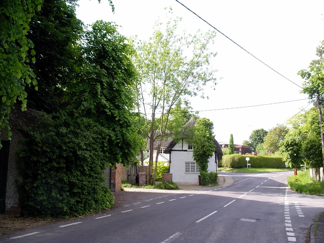 Road junctions at the northern end of Broughton